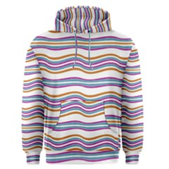Colorful Wavy Stripes Pattern 7200 Men s Pullover Hoodie