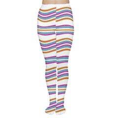 Colorful Wavy Stripes Pattern 7200 Women s Tights