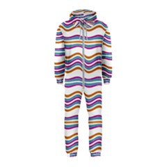 Colorful Wavy Stripes Pattern 7200 Hooded Jumpsuit (kids)