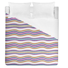 Colorful Wavy Stripes Pattern 7200 Duvet Cover (queen Size)