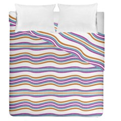 Colorful Wavy Stripes Pattern 7200 Duvet Cover Double Side (queen Size)