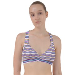 Colorful Wavy Stripes Pattern 7200 Sweetheart Sports Bra