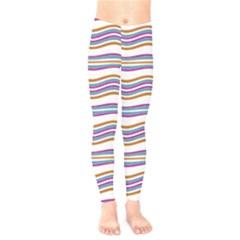 Colorful Wavy Stripes Pattern 7200 Kids  Legging