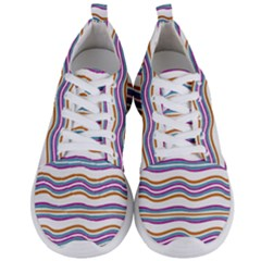 Colorful Wavy Stripes Pattern 7200 Men s Lightweight Sports Shoes
