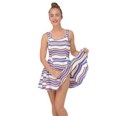 Colorful Wavy Stripes Pattern 7200 Inside Out Casual Dress