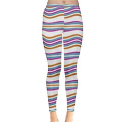 Colorful Wavy Stripes Pattern 7200 Inside Out Leggings