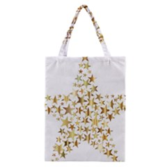 Star Fractal Gold Shiny Metallic Classic Tote Bag