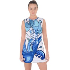 Abstract Colourful Comic Characters Lace Up Front Bodycon Dress
