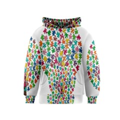 Tree Share Pieces Of The Puzzle Kids  Pullover Hoodie
