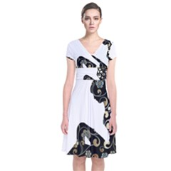Fairy Fantasy Female Fictional Short Sleeve Front Wrap Dress
