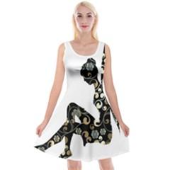Fairy Fantasy Female Fictional Reversible Velvet Sleeveless Dress by Simbadda