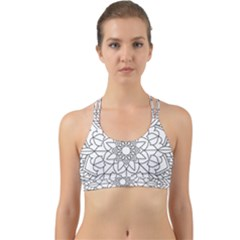 Floral Flower Mandala Decorative Back Web Sports Bra