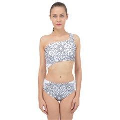 Floral Flower Mandala Decorative Spliced Up Two Piece Swimsuit