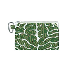 Circuit Anatomy Canvas Cosmetic Bag (small) by Simbadda
