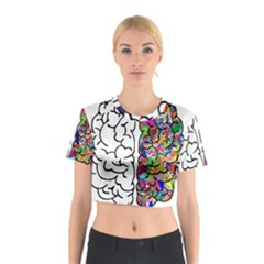 Brain Mind Anatomy Cotton Crop Top