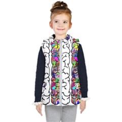 Brain Mind Anatomy Kid s Hooded Puffer Vest