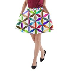 Flower Of Life Sacred Geometry A Line Pocket Skirt