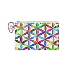Flower Of Life Sacred Geometry Canvas Cosmetic Bag (small) by Simbadda