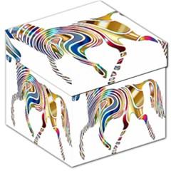 Horse Equine Psychedelic Abstract Storage Stool 12   by Simbadda