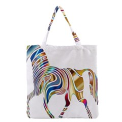 Horse Equine Psychedelic Abstract Grocery Tote Bag by Simbadda
