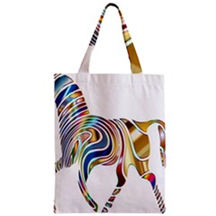 Horse Equine Psychedelic Abstract Zipper Classic Tote Bag