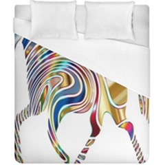Horse Equine Psychedelic Abstract Duvet Cover (california King Size)