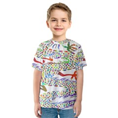 Dragon Asian Mythical Colorful Kids  Sport Mesh Tee