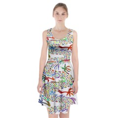 Dragon Asian Mythical Colorful Racerback Midi Dress