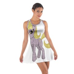 Unicorn Narwhal Mythical One Horned Cotton Racerback Dress by Simbadda