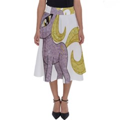 Unicorn Narwhal Mythical One Horned Perfect Length Midi Skirt by Simbadda