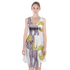 Unicorn Narwhal Mythical One Horned Racerback Midi Dress