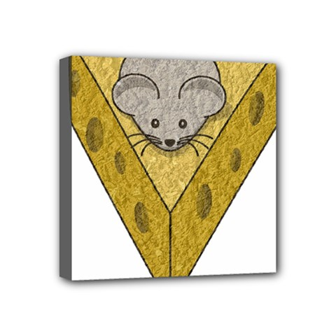 Cheese Rat Mouse Mice Food Cheesy Mini Canvas 4  X 4