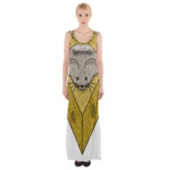 Cheese Rat Mouse Mice Food Cheesy Maxi Thigh Split Dress