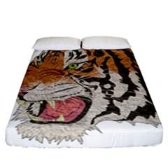 Tiger Tiger Png Lion Animal Fitted Sheet (california King Size) by Simbadda