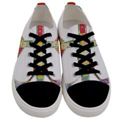 Flourish Decorative Peace Sign Men s Low Top Canvas Sneakers