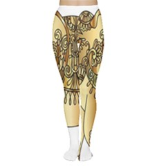Gold Elephant Pachyderm Women s Tights by Simbadda
