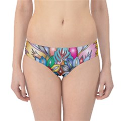 Anthropomorphic Flower Floral Plant Hipster Bikini Bottoms