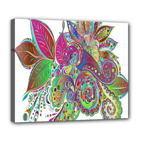 Floral Flowers Ornamental Deluxe Canvas 24  X 20