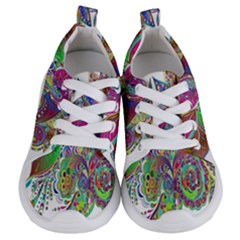 Floral Flowers Ornamental Kids  Lightweight Sports Shoes