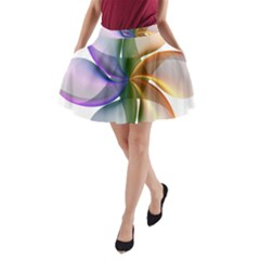 Abstract Geometric Line Art A Line Pocket Skirt