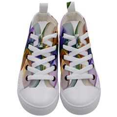 Abstract Geometric Line Art Kid s Mid Top Canvas Sneakers