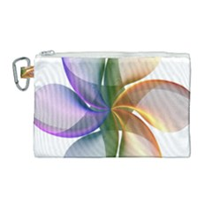 Abstract Geometric Line Art Canvas Cosmetic Bag (large) by Simbadda