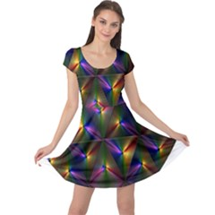 Heart Love Passion Abstract Art Cap Sleeve Dress