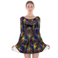 Heart Love Passion Abstract Art Long Sleeve Skater Dress