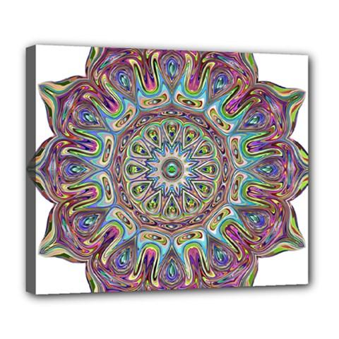 Mandala Decorative Ornamental Deluxe Canvas 24  X 20