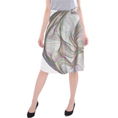Abstract Geometric Line Art Midi Beach Skirt