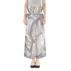 Abstract Geometric Line Art Full Length Maxi Skirt