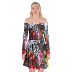 Eden Garden 6 Off Shoulder Skater Dress