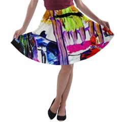 Walk With A Dog 1/1 A Line Skater Skirt by bestdesignintheworld