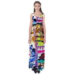 Walk With A Dog 1/1 Empire Waist Maxi Dress
